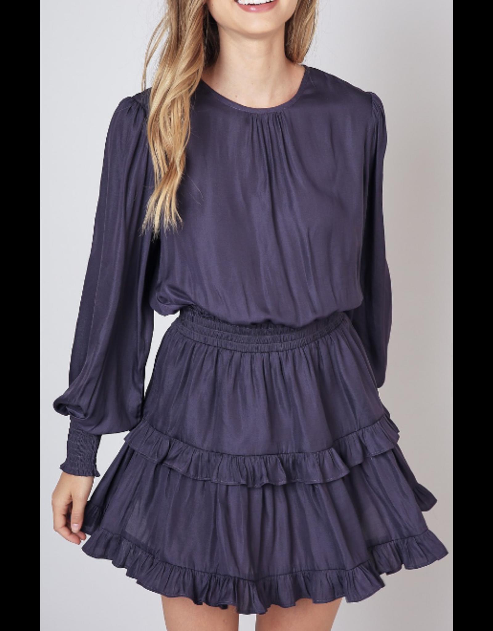 Ruffle Detail Dress - Blue