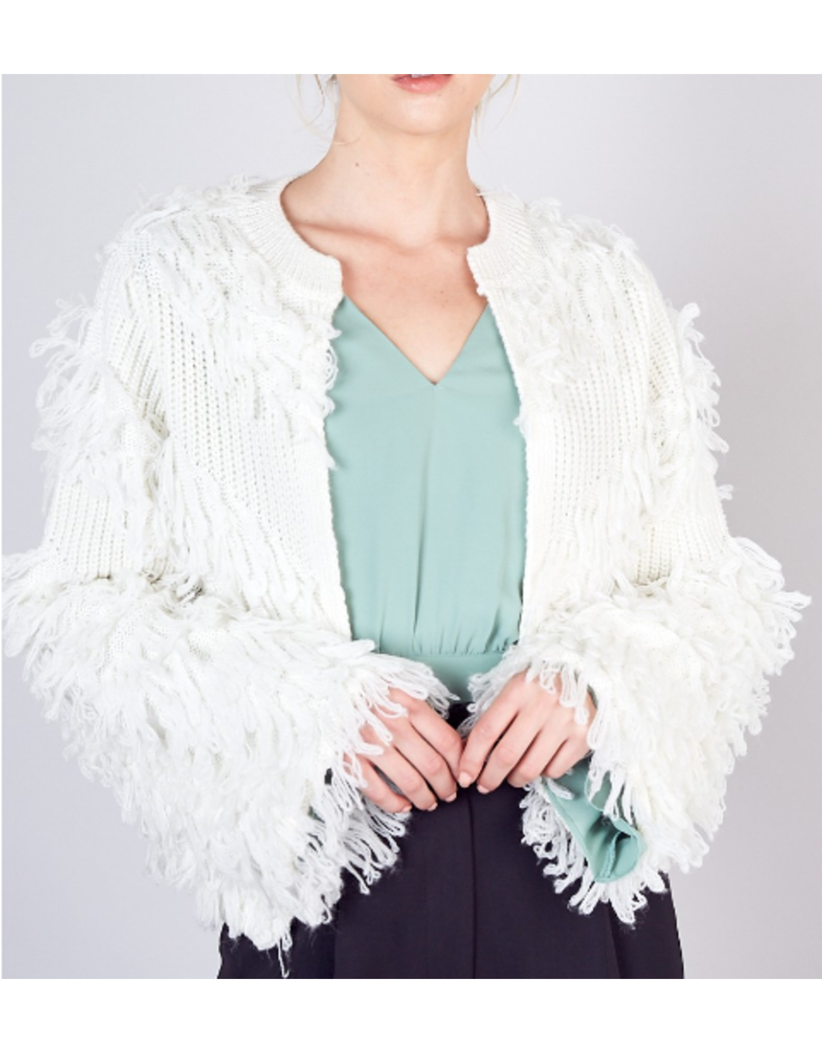 Shaggy Cropped Cardigan