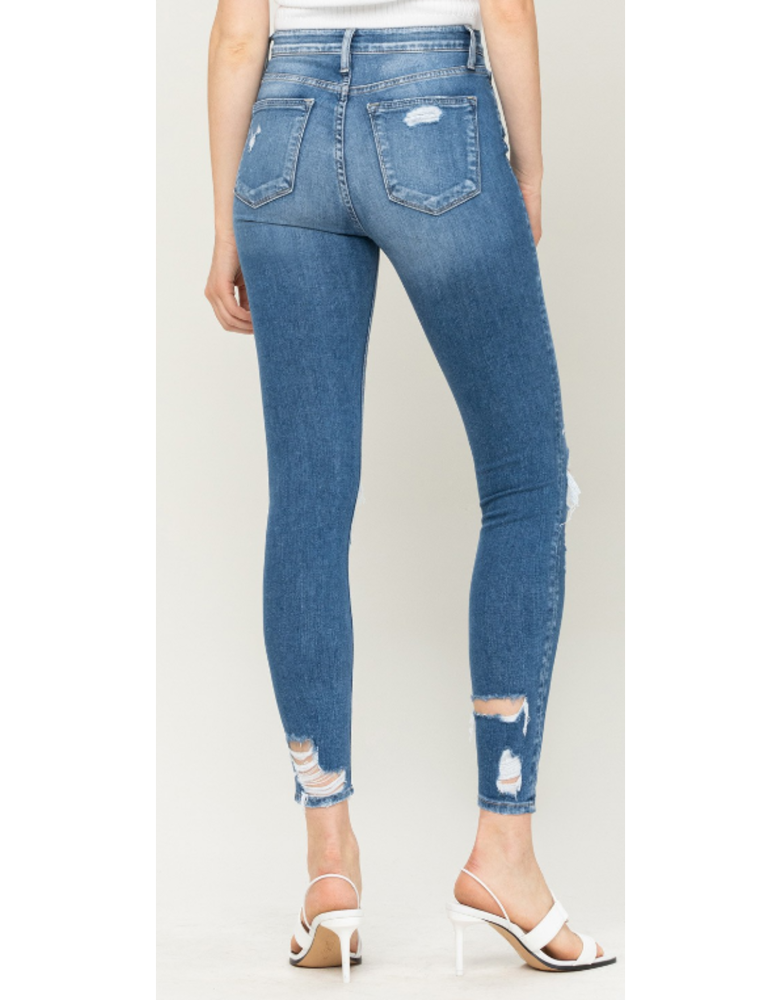 High Rise Distressed Crop Jeans