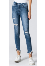 High Rise Frayed Crop Jeans