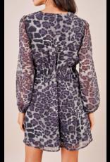 Sugarlips Leopard Mini Dress - NAVY