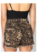 Buddy Love Leopard Denim Shorts