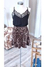 Harper Wren Velvet Leopard Skirt