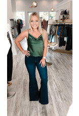 Glam Yes Cowl Neck Satin Cami