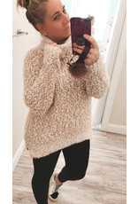 Oversized Mohair Turtleneck Sweater