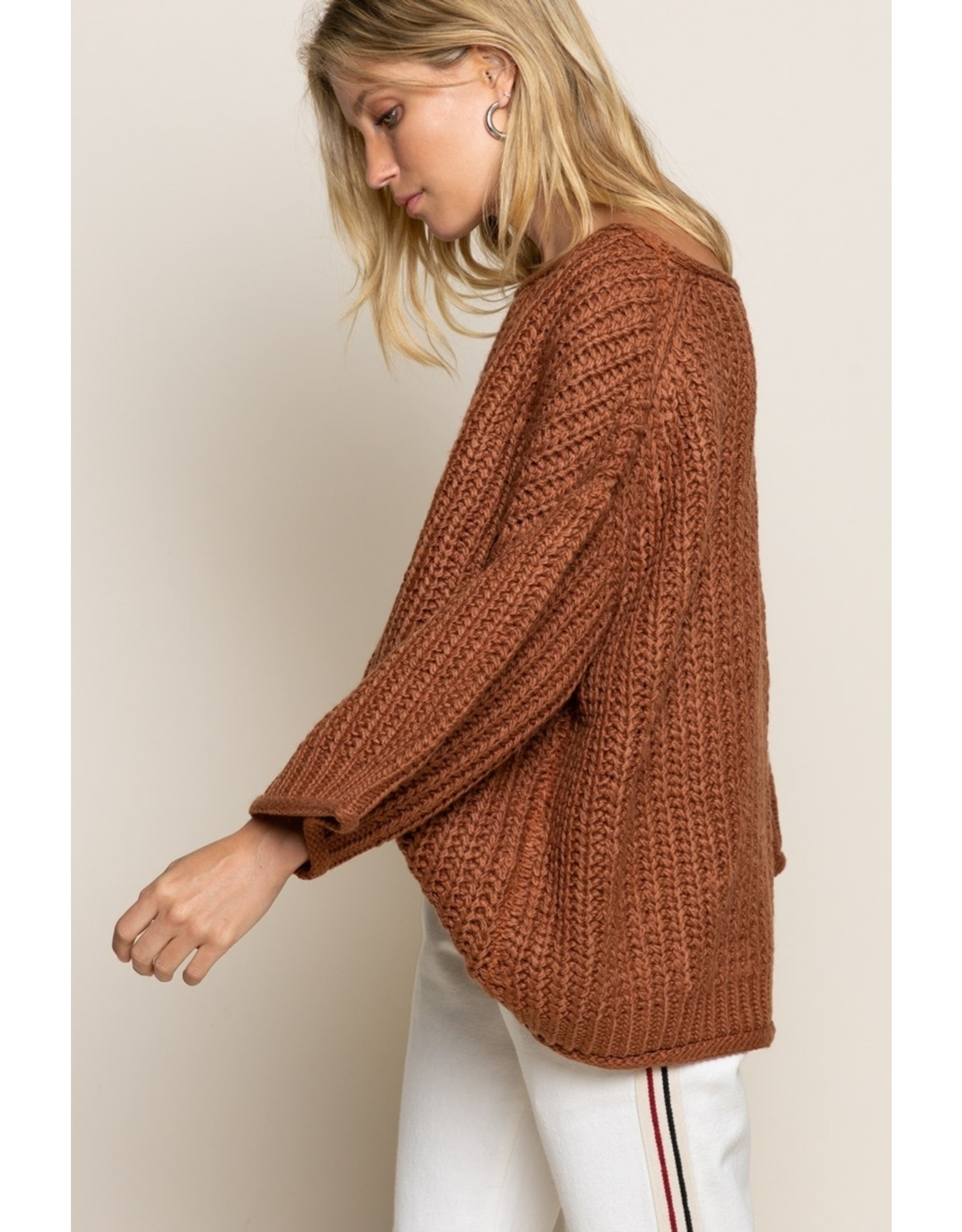 Chunky Oversized Sweater - Carrot