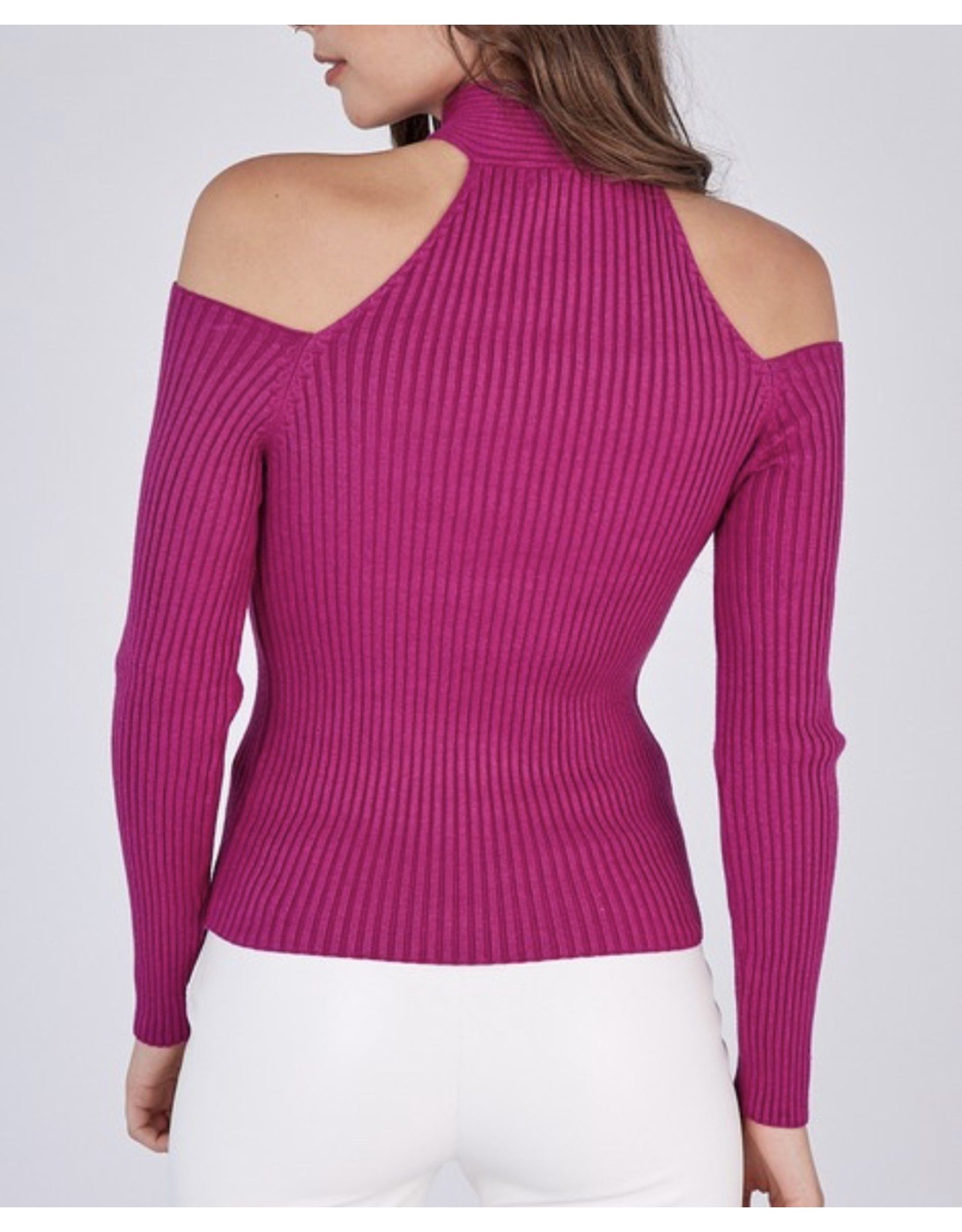 Idem Ditto Cross Neck Ribbed Sweater