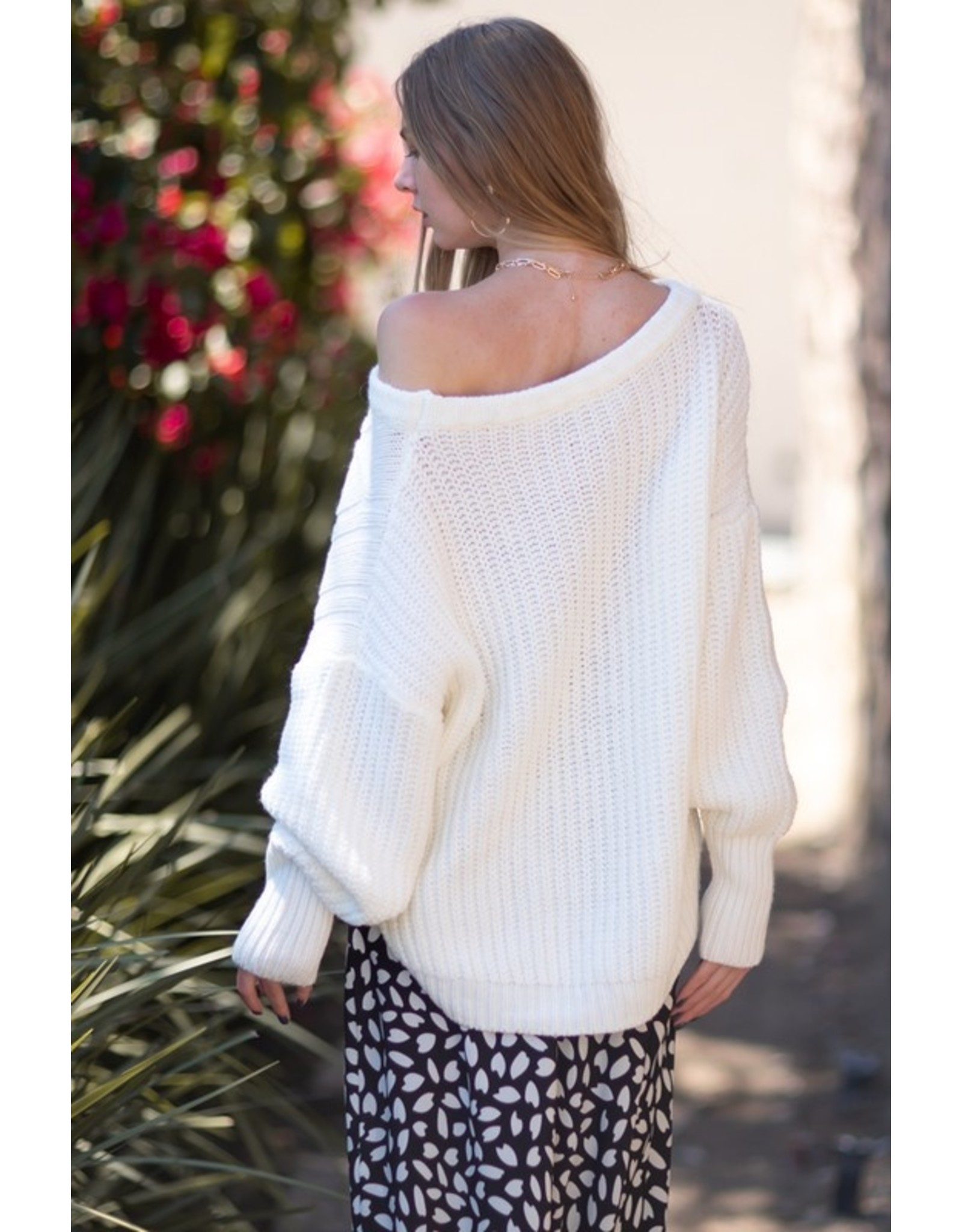 Hi/Low Sweater - Off White