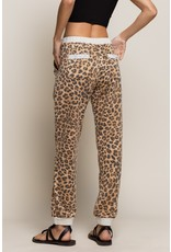 Leopard Joggers - Brown