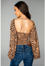 Buddy Love Yasmine Leopard Top