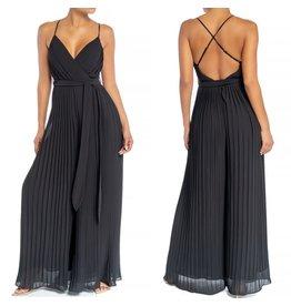 Pleated Jumpsuit - Black