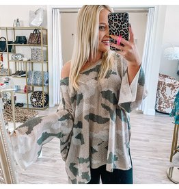Lightweight Camo Sweater