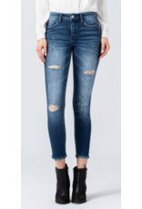 Lena Mid Rise Distressed Ankle Jeans