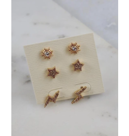Kepner Set of 3 Stud Earrings