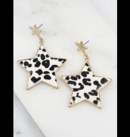 Messer Leopard Star Earrings