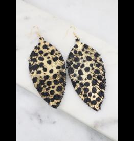 Gildan Leopard Feather Earrings