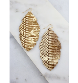 Madison Leather Feather Earrings