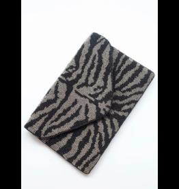 Zebra Beaded Crossbody Bag