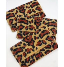 Leopard Beaded Bag