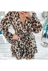 Leopard Romper - Brown
