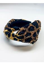 Beaded Leopard Headband
