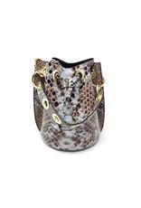 German Fuentes Genuine Leather Snake Handbag