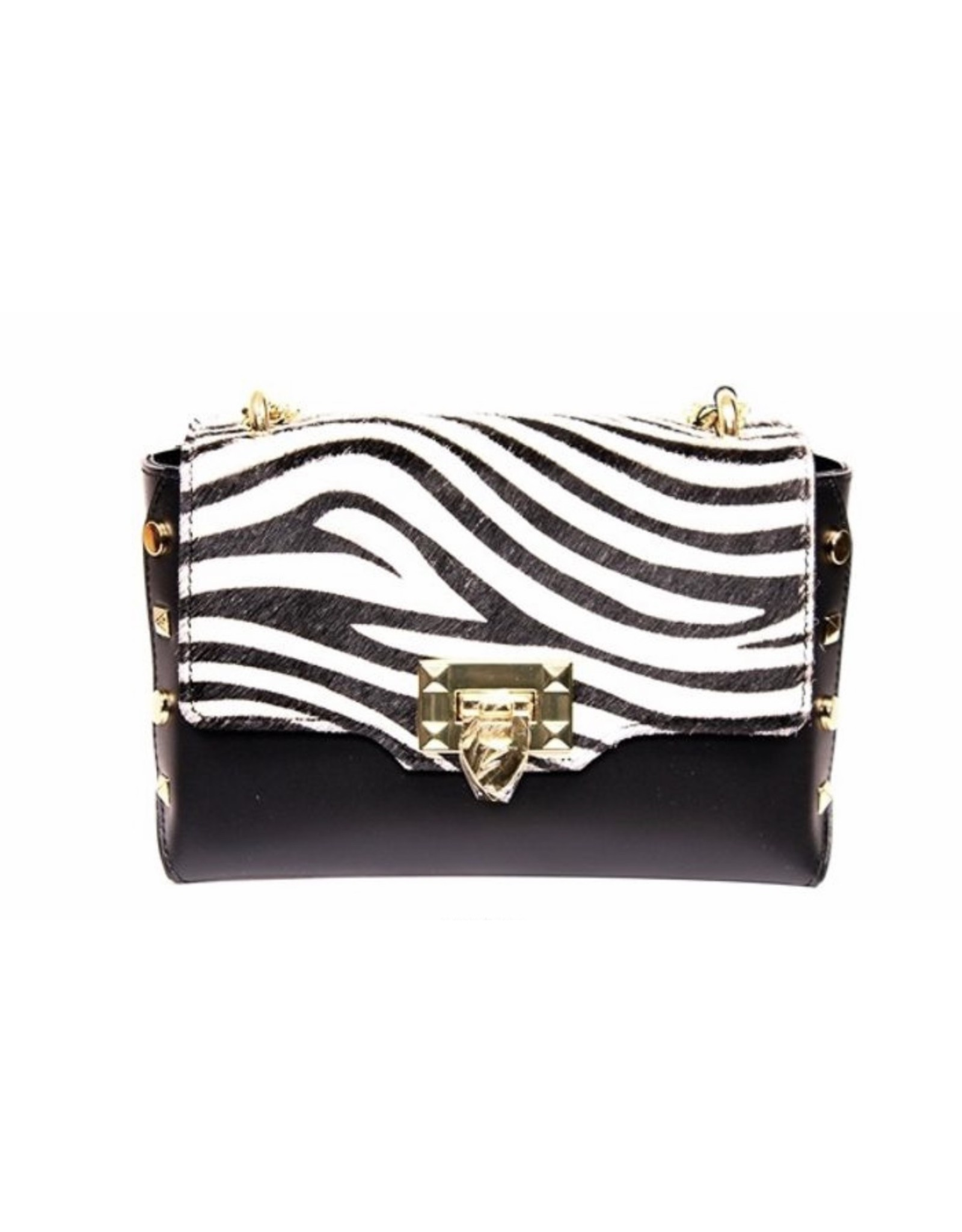 German Fuentes Genuine Leather Zebra Crossbody