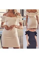 Ruffle Off Shoulders Dress