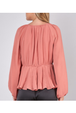 Pleated Detail Top - Rose