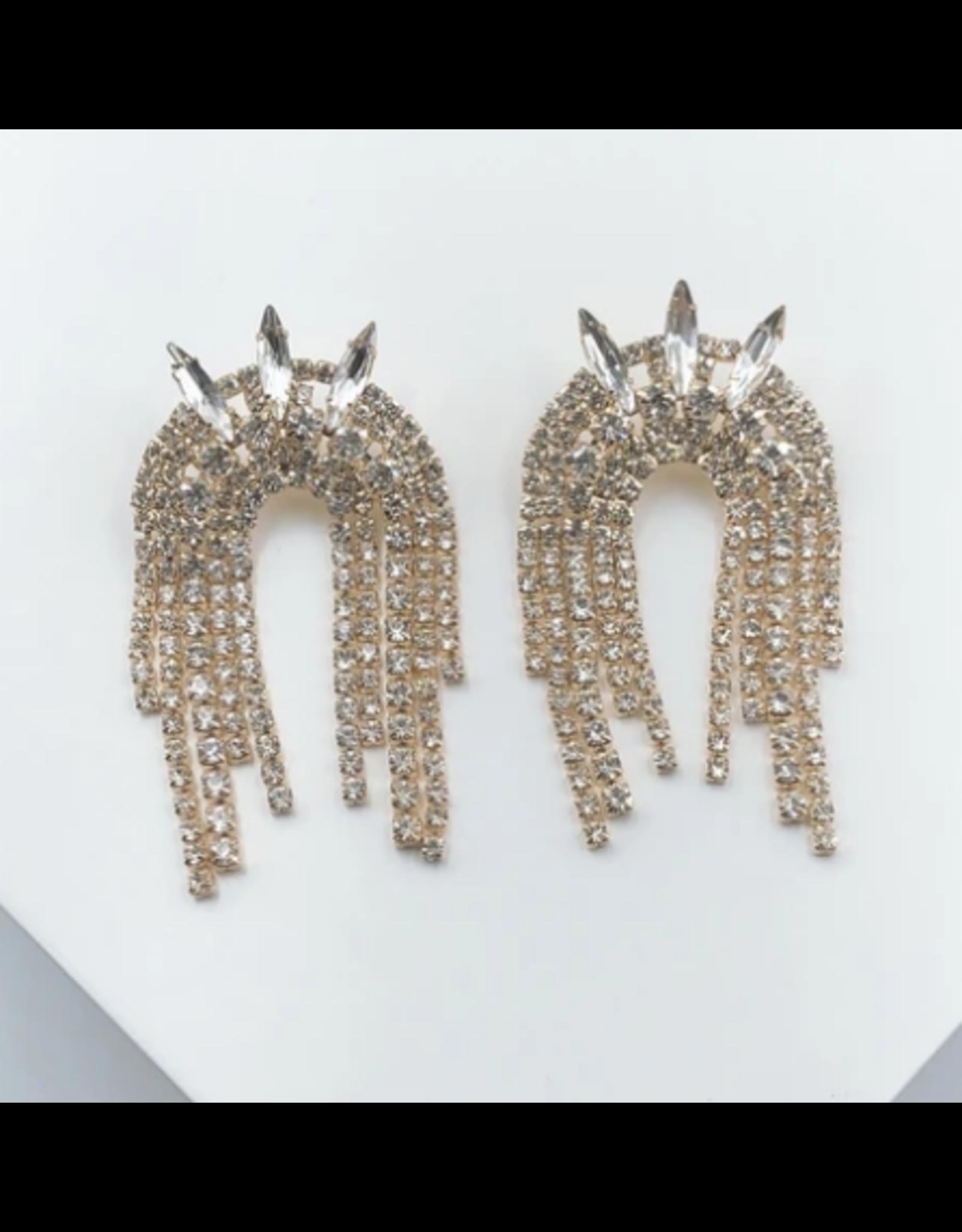 Treasure Jewels Spike Crystal Earrings