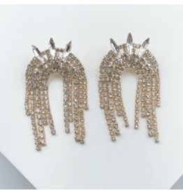 Treasure Jewels Spike Crystal Earrings