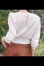 Pleated Waist Top - White