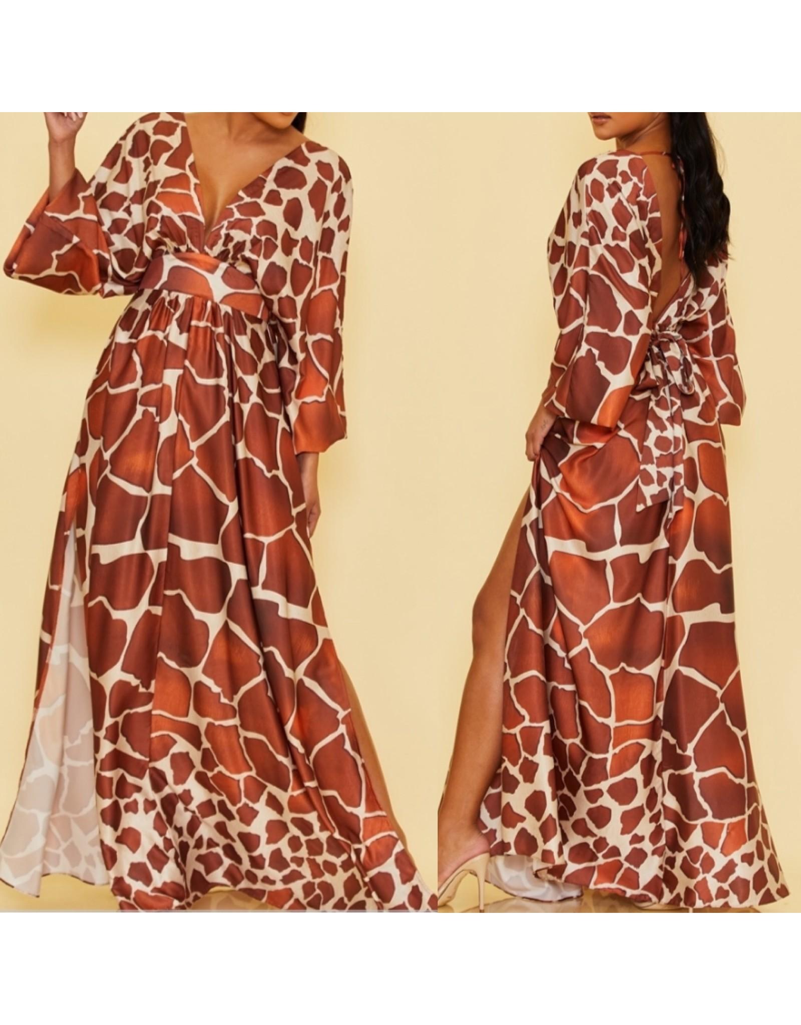 Safari Maxi Dress - Rust