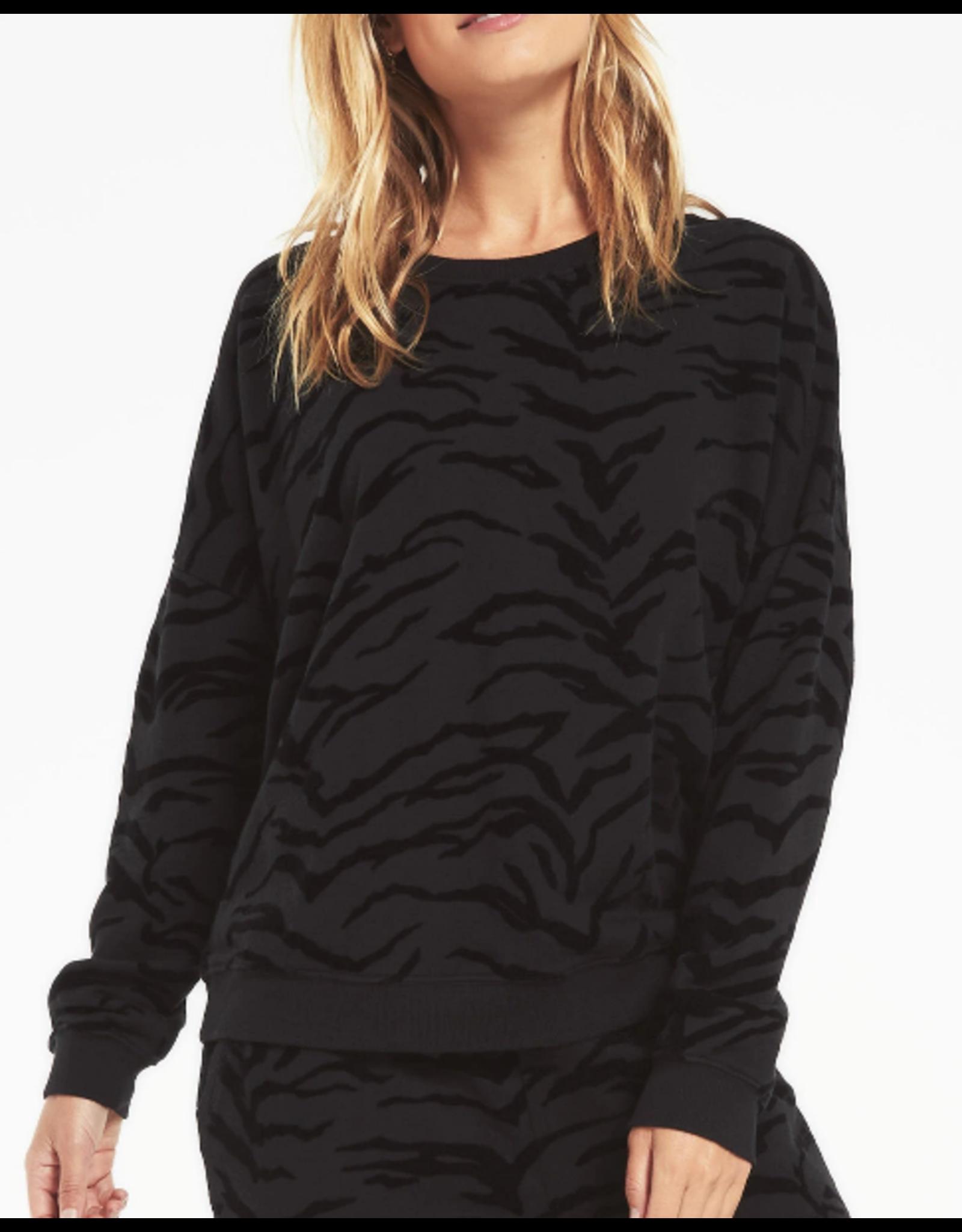 Z Supply  Z Supply Tiger Sweatshirt - Black