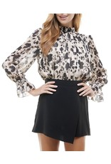 Metallic Spotted Top - Black