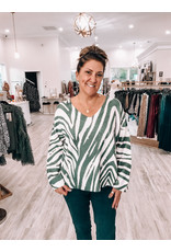 Oversized Zebra Sweater - Charcoal