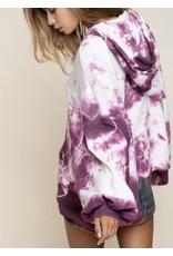Dip Dye Hoodie - Grape