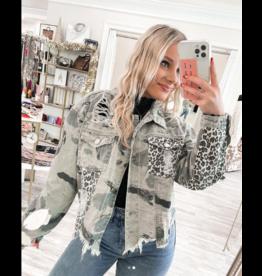 Camo/Leopard Denim Jacket