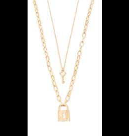 My Girl LA Regina Double Lock Necklace