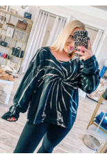 Oversized Tie Dye Top - Black
