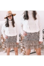 Glam Cable Turtle Neck Sweater