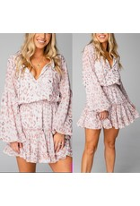 Buddy Love Zozo Leopard Dress - Rose