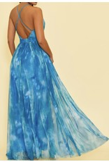 Tie Dye Maxi Dress - Blue