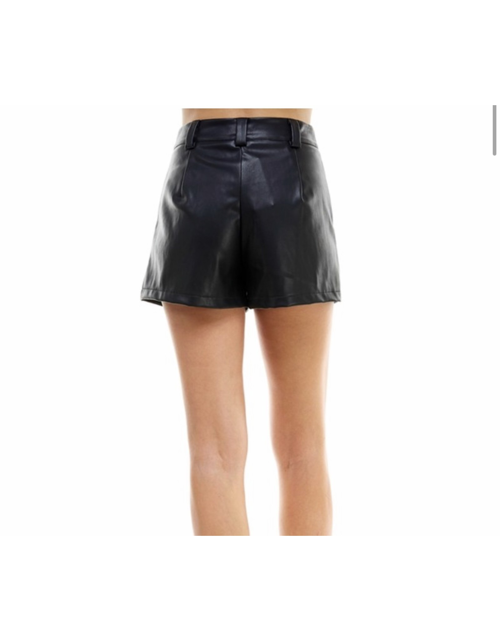 Pleather Shorts - Black