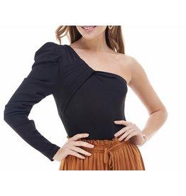 One Shoulder Knit  Bodysuit