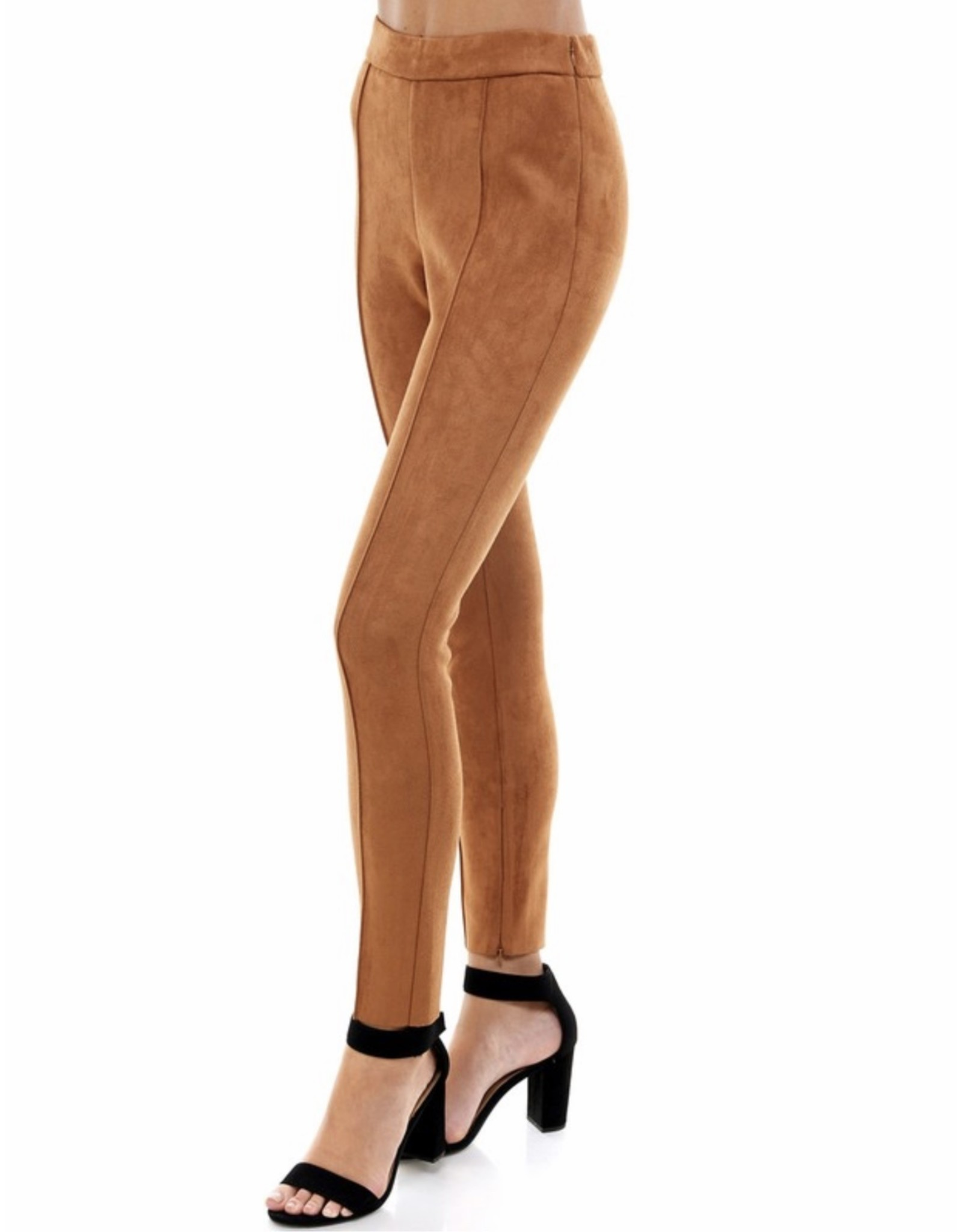 Suede Pants - Camel