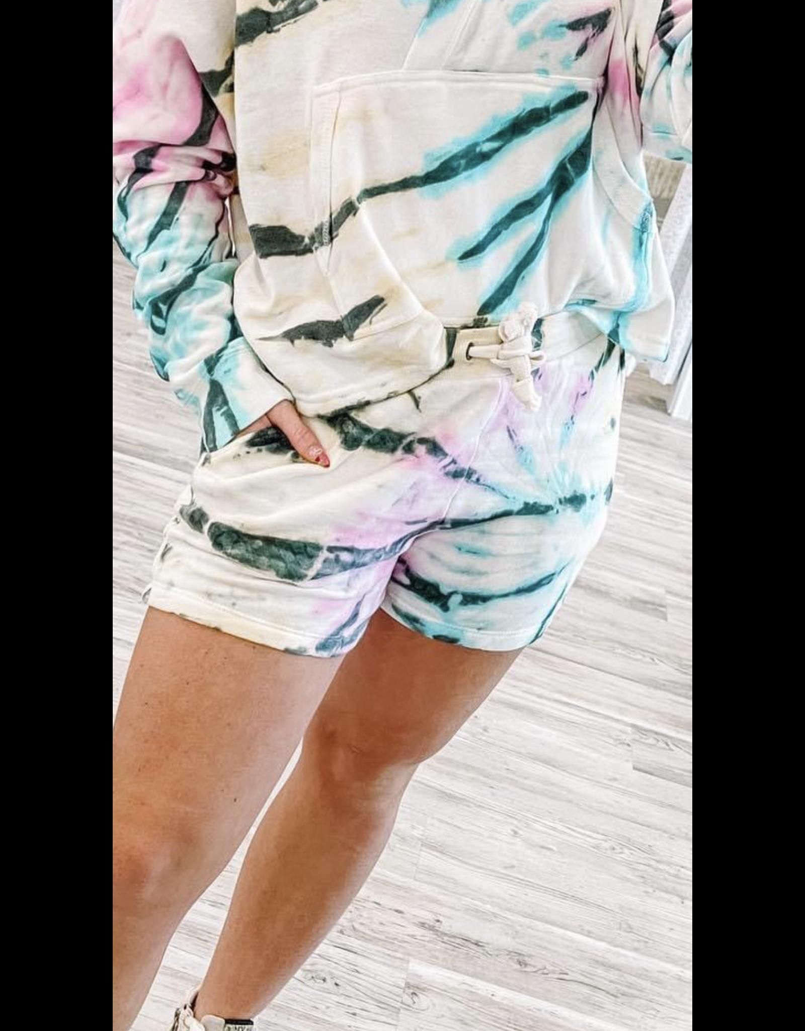 Tie Dye Fleece Shorts - Multi