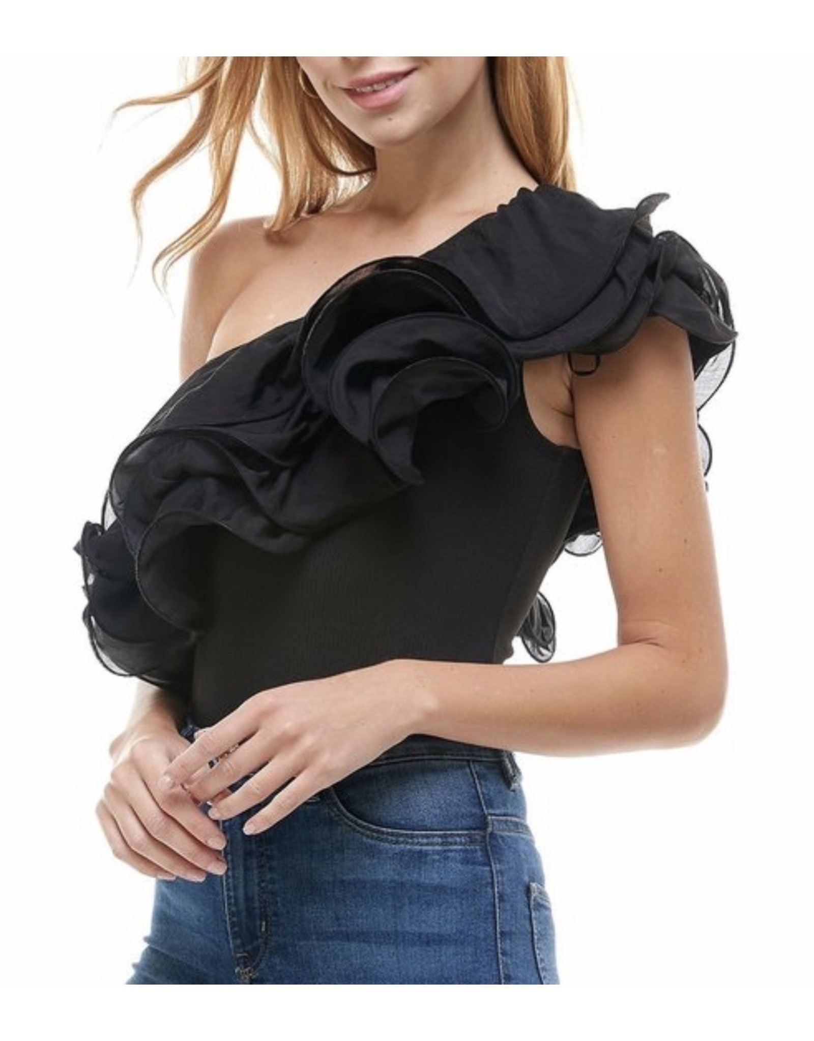 Organza Bodysuit - Black