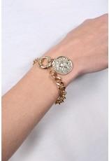 Garrel Coin Charm Bracelet