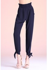Tie Detail Pants - Black